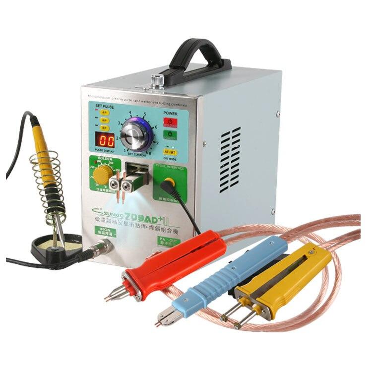 SUNKKO 709AD + atualizar NOVA versão grande poder de 709AD 4 EM 1 pulse máquina de soldadura Soldador Local fixo + constante temperatura de solda