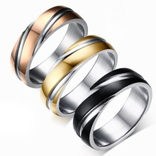 Unisex Polished Stainless Steel Ring