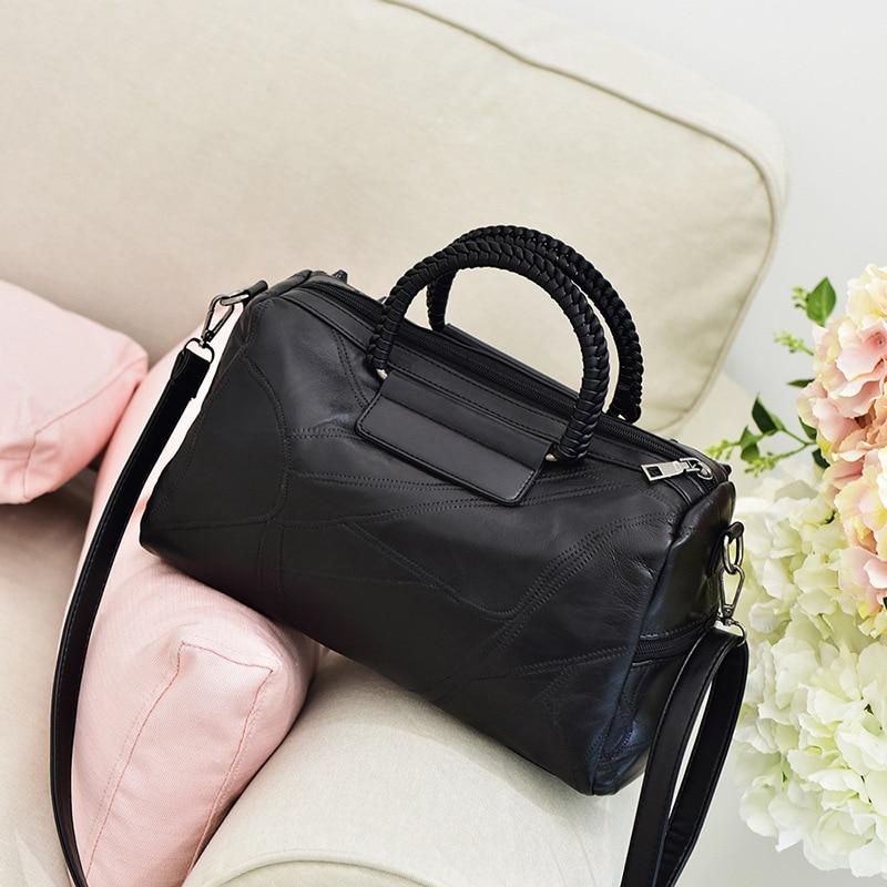 New Women Bag Fashion Handbag Genuine Leather Shoulder Bag Women Messenger ladies shoulder bags Stitching women bag handbag все цены