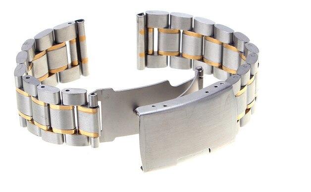 Высокое качество 10 шт/Лот 22 мм одноцветное Нержавеющая сталь Смотреть полоса ремешок 4 цвета-123106