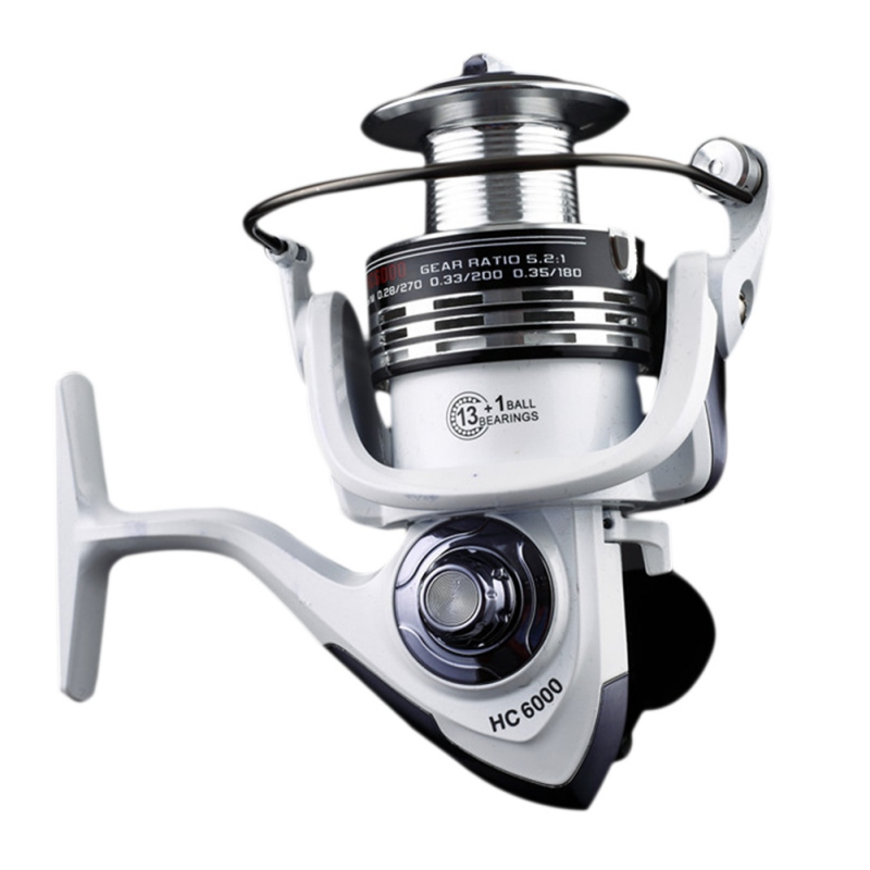 HC1000-7000 type 14 Bearings Spinning <font><b>Fishing</b></font> Reel with Right Left Hand Exchangeable Soft Handle for Casting Line Metal Cups New