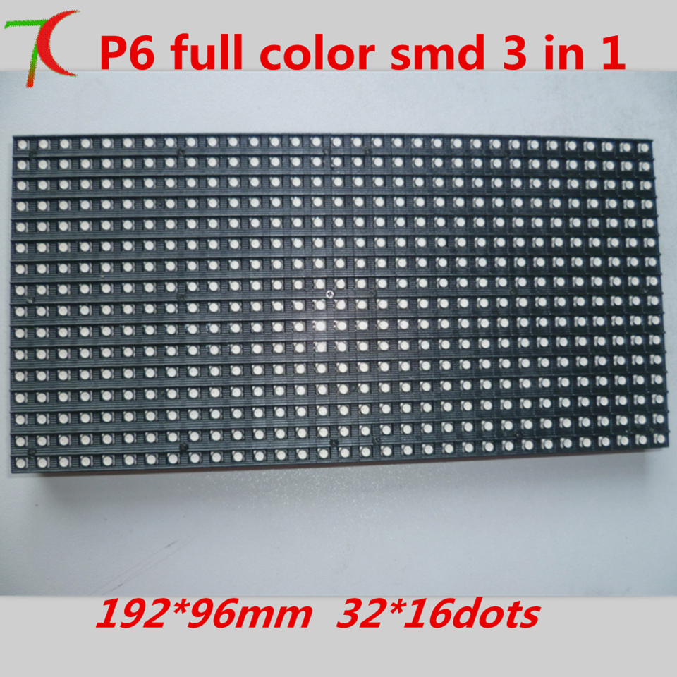 P6  indoor SMD 8scan  full color led module,192*96mm