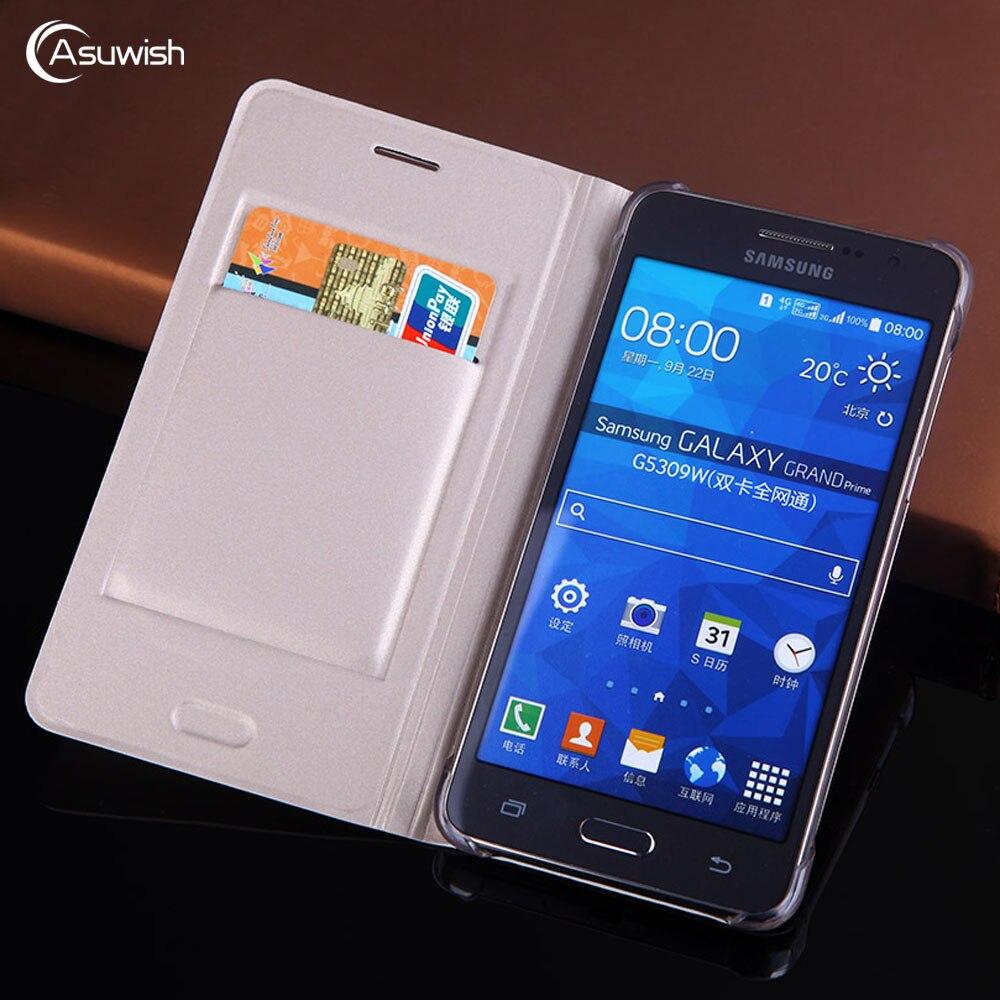 Housse de protection En Cuir Téléphone étui pour samsung Galaxy Grand Prime SM G530 G530H G531 G531H G531F SM-G530H SM-G531H Portefeuille Carte 360