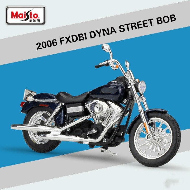 Maisto pour FXDBI DYNA STREET BOB 2006 modèle de moto moulé sous pression pour Haley modèle de Simulation de Motocross alliage 1:12 jouets pour enfants