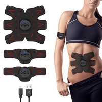 Y W F 1 Set Rechargable Abdominal Muscle Toner Abs Toning Belt Abdominal Arm Leg Muscle