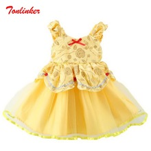 Little Girl Belle Princess Halloween Christmas Costumes For Birthday Theme Party Deluxe Dress Up Vestido
