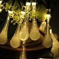 6 m 30LED Decoração Gota De Água LEVOU luzes Da Corda do Feriado Festa de Casamento de Natal de ano Novo de iluminação Da Lâmpada Quarto Lumiere