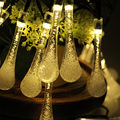 6m 30LED Decoration Water Drop LED String lights Bedroom Lumiere Christmas New year Holiday Party Wedding Lamp lighting