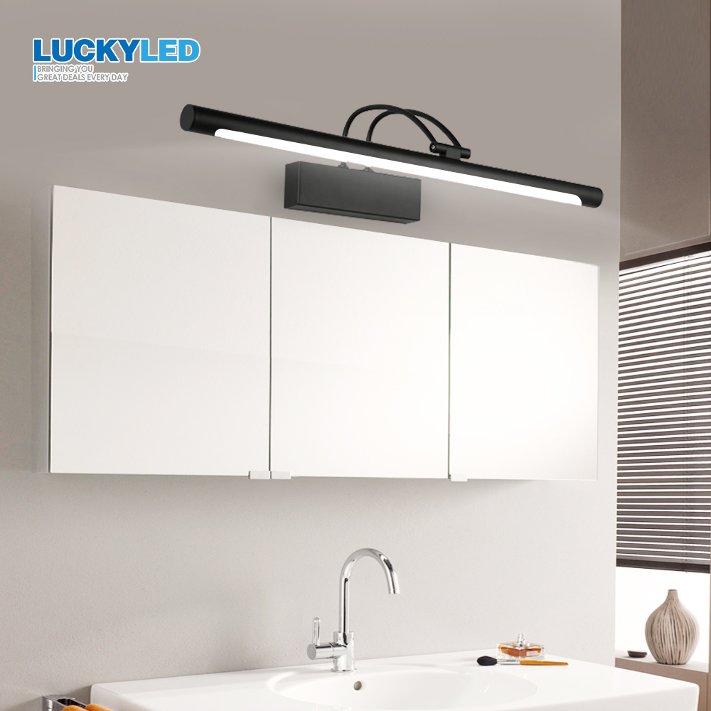 LUCKYLED Led Bathroom Light Wall Lamp 8W 12W AC85 265V Modern Led Mirror Light Waterproof Wall Mounted Wall light Fixture in LED Indoor Wall Lamps from Lights Lighting