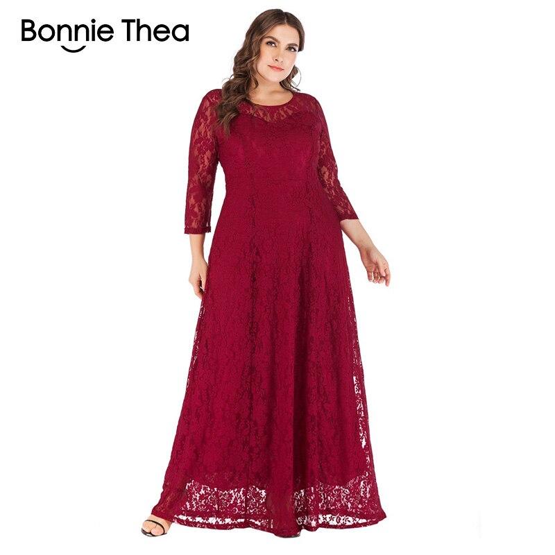 9a60853dacb women lace plus size maxi dress autumn Elegant XL-6XL large size evening  Party dress