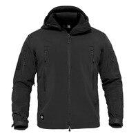 Men Jacket Coat Military Tactical Jacket Winter Waterproof Soft Shell Windbreaker Army Coat Tactical Hoodie Jacket Outerwear