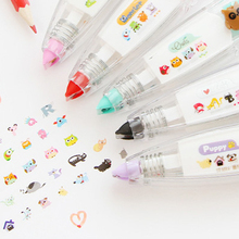 1Pc Correction Tape Creative Push Lace Cute Cartoon Animal Decoration Tapes Student Diary Decorations School Supplies 9 Patterns