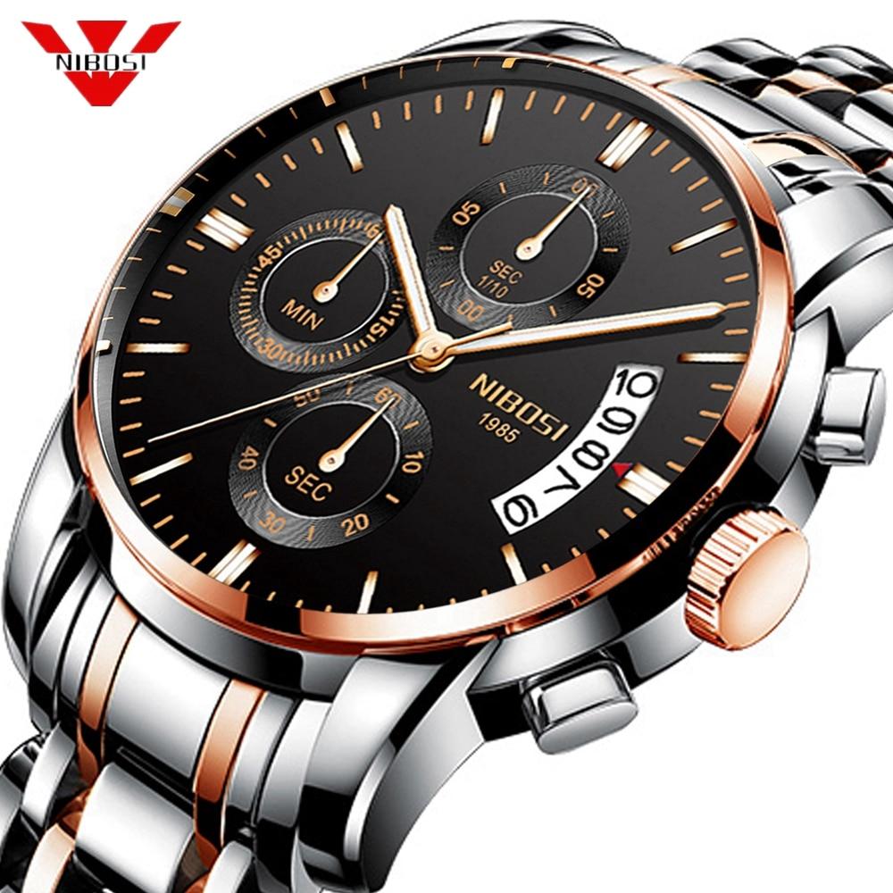 NIBOSI 2019 nuevo reloj hombres Deporte Militar reloj de cuarzo relojes para hombre marca de lujo muñeca impermeable reloj Masculino