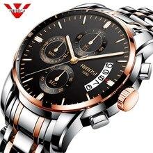 NIBOSI Новинка 2019 года часы для мужчин Военная Униформа Спорт кварцевые мужские часы, наручные часы лучший бренд класса люкс водонепрони