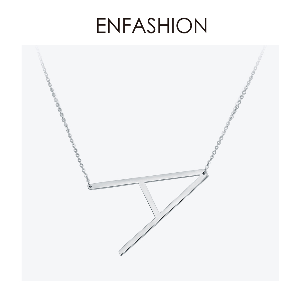 Enfashion Letter Necklaces Pendants Alfabet Initial Necklace Stainless Steel Choker Necklace Women Jewelry Kolye Collier collareEnfashion Letter Necklaces Pendants Alfabet Initial Necklace Stainless Steel Choker Necklace Women Jewelry Kolye Collier collare