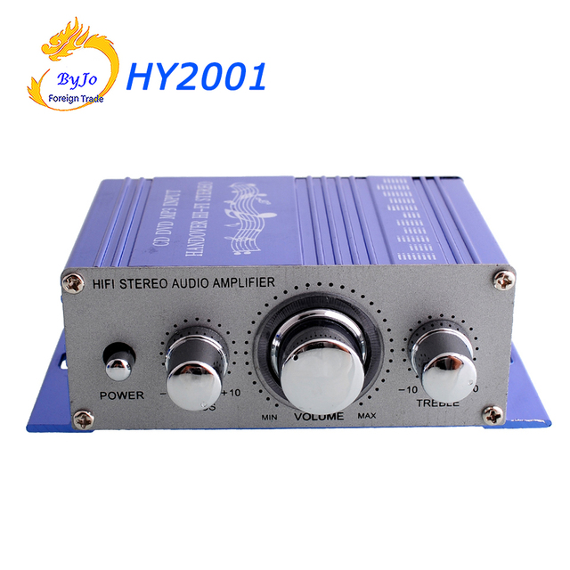 Special Price HY2001 Mini Amplifier Auto Car Stereo power Amplifier HiFi Audio CD DVD MP3 Durable player Car Power Amplifier