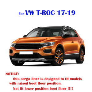 Image 5 - For Volkswagen VW T Roc T ROC TRoc 2017 2018 2019 Boot Liner Cargo Tray Trunk Liner Mat Floor Carpet Luggage Tray Accessories