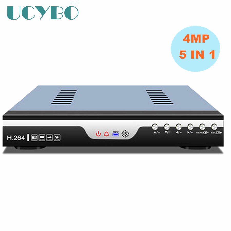 5 in 1 4CH 8CH 4MP AHD DVR video recorder combo 4 channel 8 channel hybrid DVR NVR for CCTV Security 4mp  IP CVI TVI AHD Camera 4ch 8ch 1080n cctv ahd dvr nvr xvr video