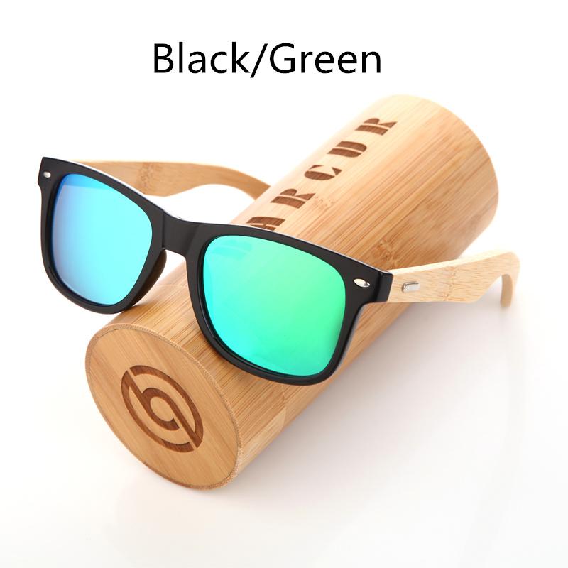 نظارة شمسية للرجال وللسيدات بعدسات بلورايزد واطار خشبي 11