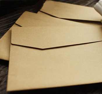 100Pcs/lot Vintage Kraft Paper Envelopes Europen Style Envelope Message Card Letter Stationary Storage Paper Gift 170*120mm - DISCOUNT ITEM  35 OFF Education & Office Supplies