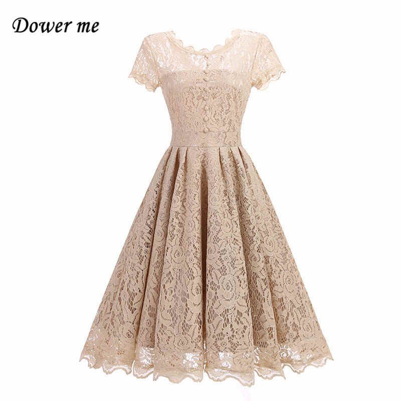 summer sexy soft lace slim ladies party dress elegant o neck a line