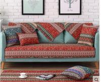 Continental Living Room Sofa Cushion Four Seasons Cotton Fabric Non Slip Solid Wood Cushion Fabric Towel
