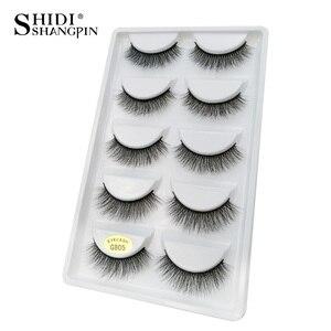 Image 3 - SHIDISHANGPIN 50 pairs natural long false eyelashes fluffy 3d mink lashes make up 100% cruelty free fake eyelash faux cils G805