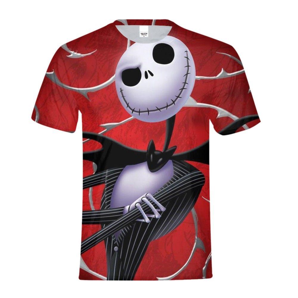 Nightmare Before Christma Jack Skellington Skull 3D Print T shirt Men/boy Funny Tshirt Short Sleeve Top Tees Male Clothes 2018