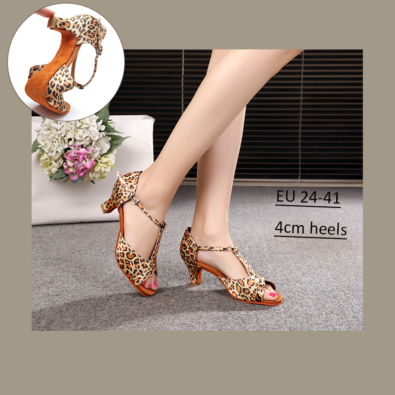 Alharbi Hot Sale Women Girls Ballroom Dance Shoes For Latin American Dances Salsa Sandals Tango Shoes 5/7cm Heels Dancing Shoes
