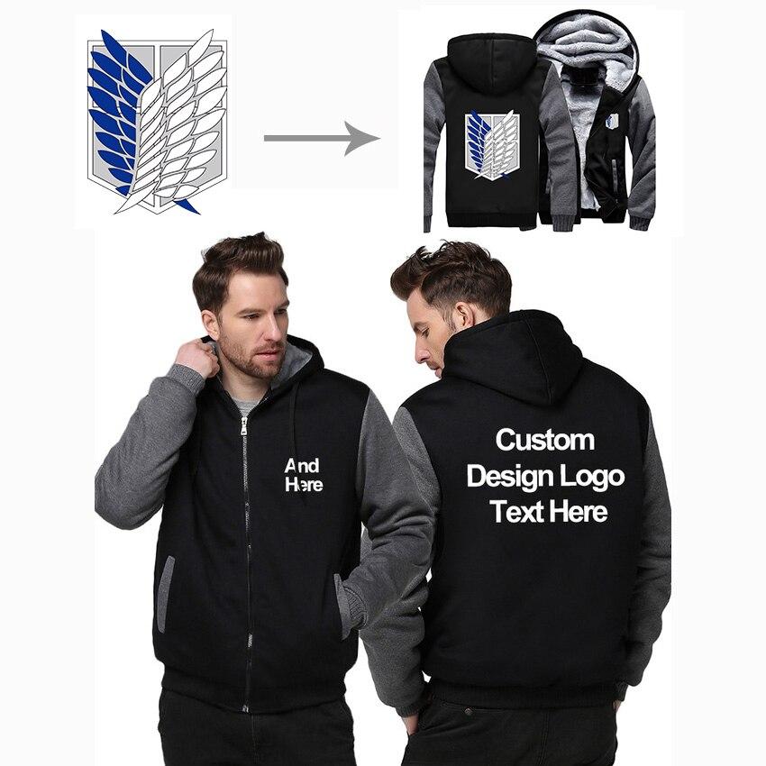 Taille américaine personnalisée pulls à capuche pour hommes bricolage impression LOGO conception à capuche hiver polaire épaissir manteau veste Sweatshirts livraison directe