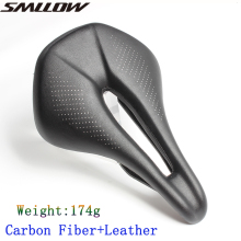 Bicycle Carbon Fiber Saddle Road Bike saddle Lightweight Seat Cushion Bicicleta Cycling Parts Bike Saddle 174g carbon saddle toseek road bike saddle bike seat t800 carbon saddle hollow surface leather bicycle saddle 2 colors