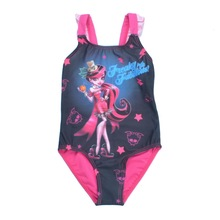 Summer Cartoon Character Baby Swimsuit One Piece Girls Bathing Suits Swimming Suit Kids Swimwear Beachwear for 3-14Y Child