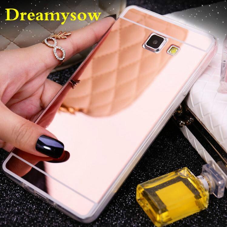 For Samsung Galaxy J1 J3 J5 J7 A3 A5 A7 2016/5 C8 J7 Plus A8 2018 S3 S4 S5 S6 S6edge S7 edge Soft TPU Case Fashion Mirror Case