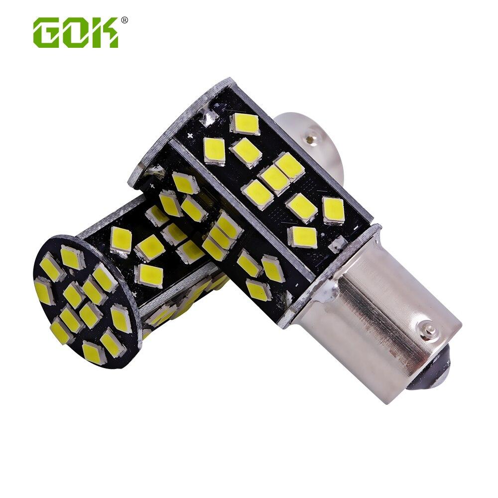 50pcs 1156 led BA15S P21W 1156 48SMD 2835 LED canbus White Car Tail Led Bulb Light Brake Lights Fog Lamp Turn Signals DRL