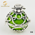 H4-22 Wholesale Floating Locket Pendant 1PC 22*20MM Copper Harmony Ball Pendant Angel Caller For Women and Baby