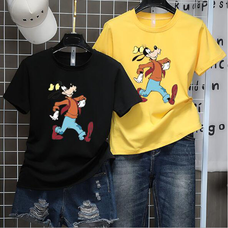 Lovely Cartoon Print   T     shirts   Women High Quality Short Sleeve Round Neck Cotton Spandex Women Tops Casual Slim   T     shirt   Woman