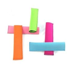 100PCS New Fashion Popsicle Holders Pop Ice Sleeves Freezer Pop Holders DHL Fedex Free shipping