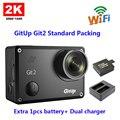 Original gitup git2 embalagem padrão 2 k wi-fi câmera de esportes full hd para sony imx206 16mp sensor + extra 1 pcs bateria + carregador duplo