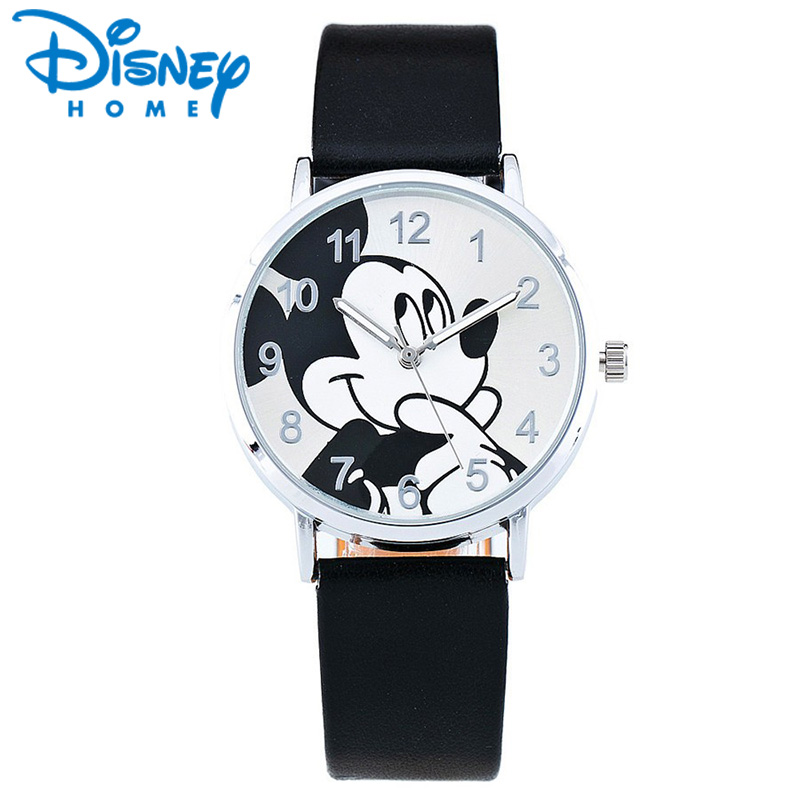 New Cartoon quartz wristwatch children hot sale leather watch Mickey watches fashion casual kid boy women girls cute relojes дьяков а г метро 2033 к свету