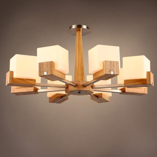 Illuminazione paese americano in legno salotto droplight minimalista ...