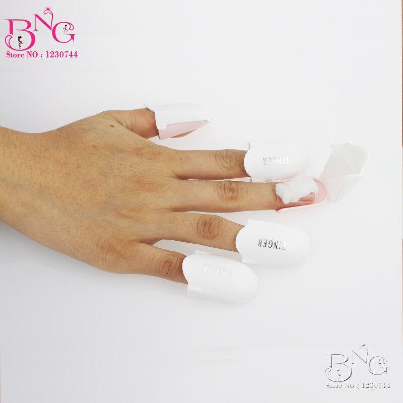 5pcs lot reusable uv gel nail polish remover wrap plastic for Acrylic nail removal salon