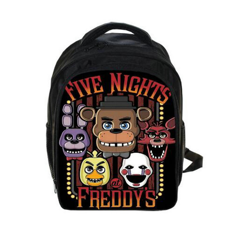 Kids Five Nights At Freddys Backpacks Anime FNAF Backpack Boys Girls School Bags Children Book Bag Daily Backpack Best Gift Bag 13 inch kids backpack monster high children school bags girls daily backpacks students bag mochila gift
