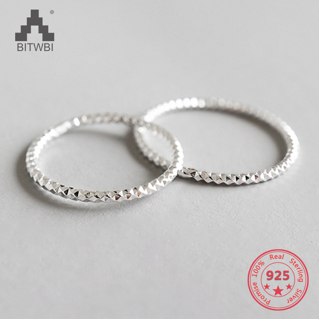 100% 925 Sterling Silver Fashion Blink Ring Index Finger Ring Tail Ring For Wome