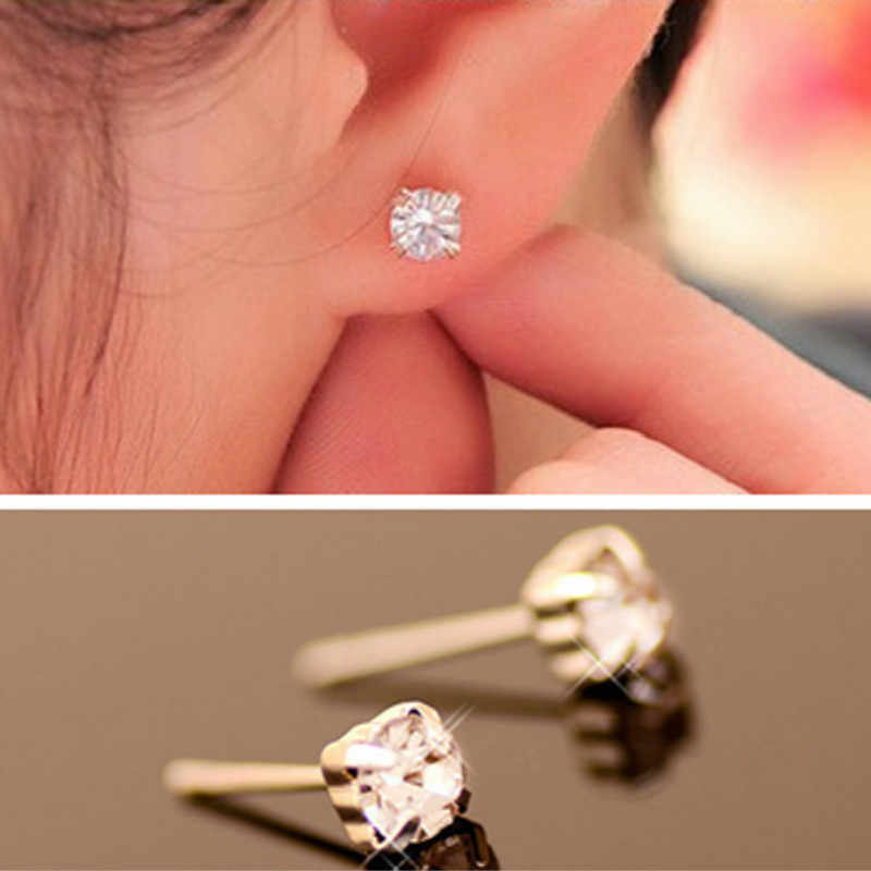 2019 New Fashion Exquisite Korean Trendy Crystal Stud Earrings Female Star  charm Jewelry Earrings Christmas gift Wholesale WD52