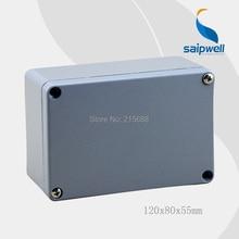 Low shipping! High quality IP67 Aluminum Enclosure 120*80*55mm SP-AG-FA2-1(4pcs screws)