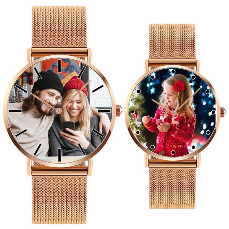 A4402 Personal Photo Print Customized Logo Watch Relogio Feminino Masculino Reloj De Dama