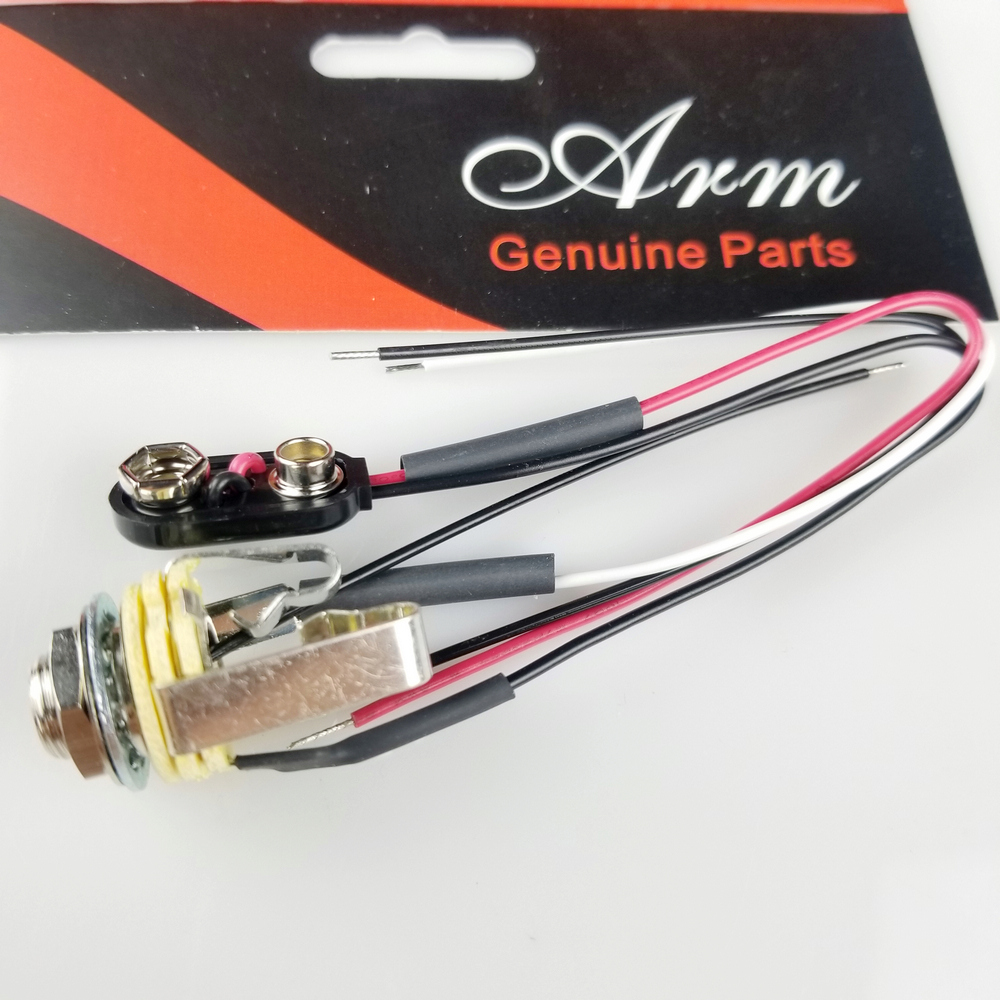 "1 Piece 1/4""(EMG) Stereo Output Jack Electric Guitar/Bass Short Open  Electric Guitar Jack With Line Made In USA-in Guitar Parts & Accessories  from Sports ..."