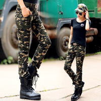 2017 lente zomer vrouwen leger camouflage broek dunne plus big size hip hop skinny elasticiteit potlood broek 26-33