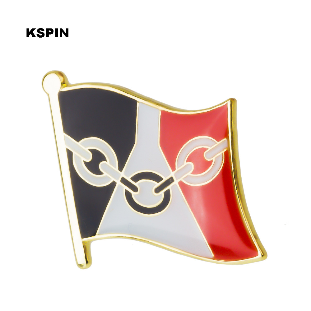 Home & Garden Badge Flag Metal Badges For Clothes Flag Badges Enamel Lapel Pin Rozet Metal Pin 10pcs Xy0282 Fine Workmanship