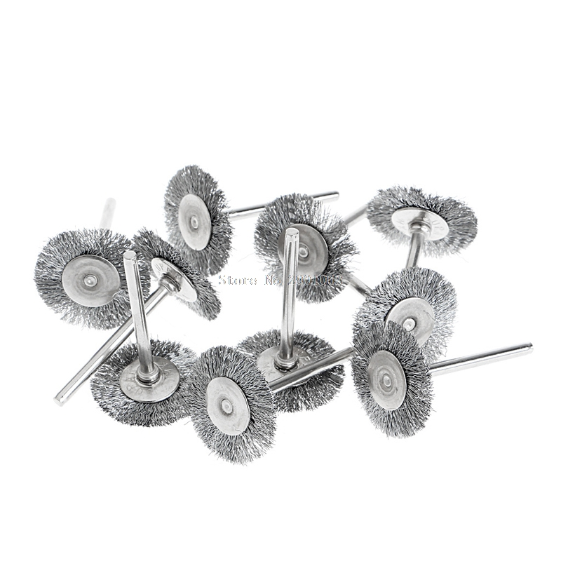 10Pcs Steel Wire Wheel Brushes Cup Rust Rotary Electric Tool Engraver Abrasive B119